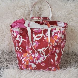 RARE Chanel Floral Nylon XL Beach Bag